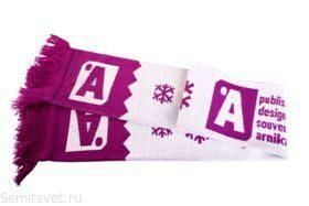 Double-sided scarf with logo