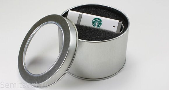 Metal box for flash drives with logo